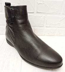 ботинки зимние мужские черные