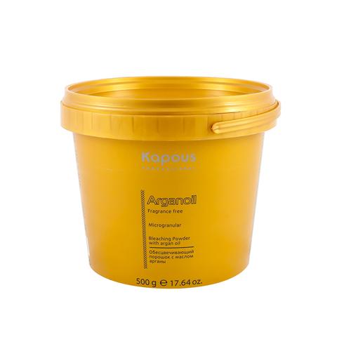 Обесцвечивающий порошок для волос с маслом Арганы 500 гр