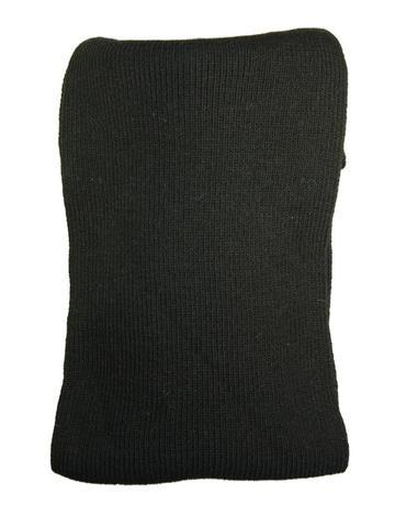 Шарф черный длинный