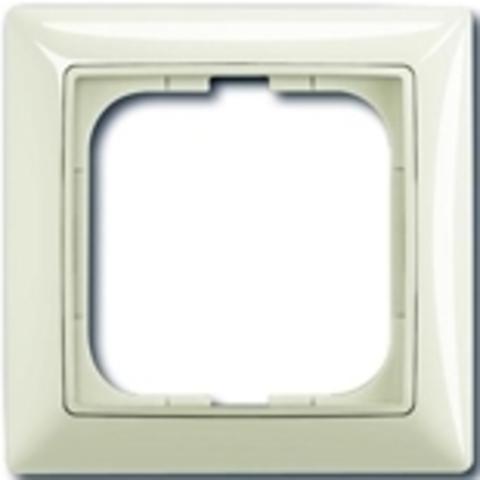 Рамка на 1 пост. Цвет шале-белый. ABB(АББ). Basic 55(Бейсик 55). 1725-0-1511