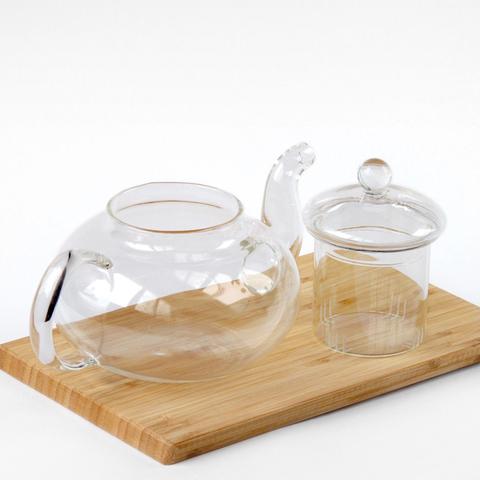 Стеклянный чайник с заварочной колбой