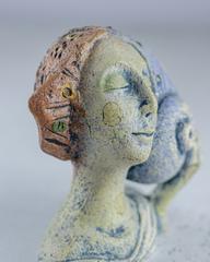 Скульптура из шамотной глины «Как она дышит», 8х12х13 см, Falco Ceramic