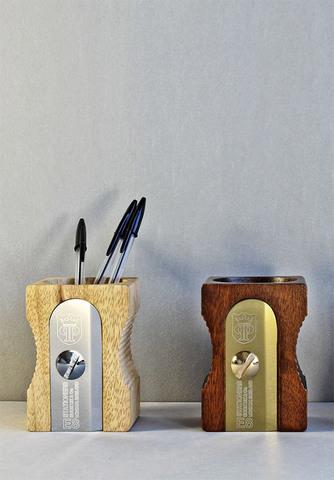 Органайзер для рабочего стола sharpener темное дерево