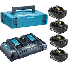 Набор аккумуляторный Makita 198489-5 (DC18RD + 4х BL1840B)