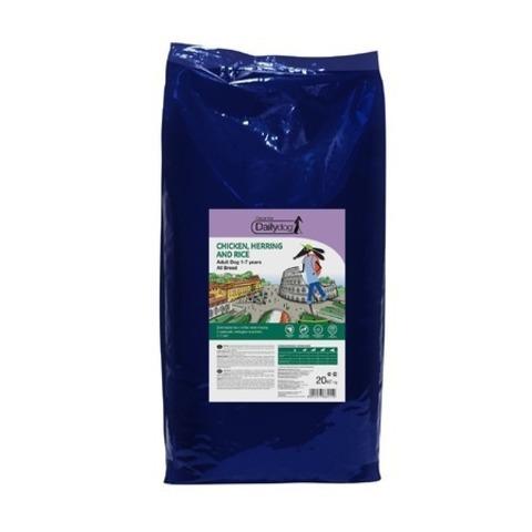 Dailydog Adult All Breed сухой корм для взрослых собак всех пород с курицей, сельдью и рисом, 20 кг.