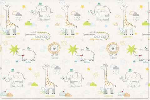 Двухсторонний коврик Pure Soft 190x130x1.2 см, Арт-деко/Зоопарк