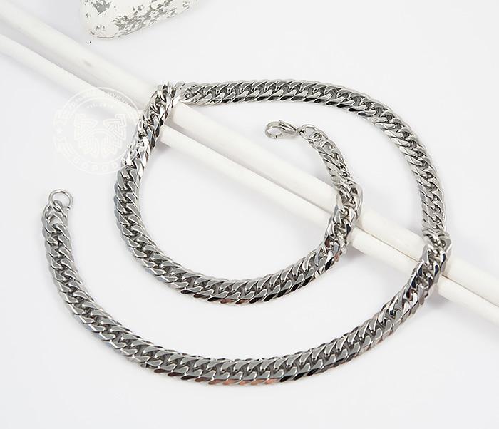 PM241 Стильная мужская цепочка из ювелирной стали (58 см) фото 02