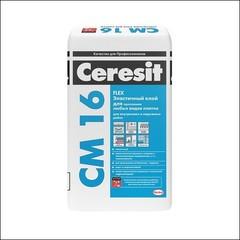 Клей для плитки для внутренних и наружных работ CERESIT СМ 16 (белый)