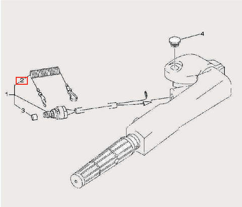 Трос аварийной остановки для лодочного мотора F9,9 Sea-PRO (14-2)