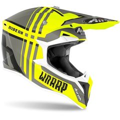 Кроссовый шлем Airoh Wraap Broken матово - желтый размер L (56-60)