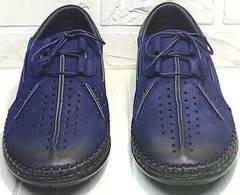 Мужские кожаные мокасины туфли синие street casual Luciano Bellini 91268-S-321 Black Blue.