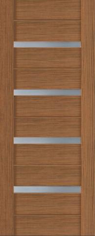 Дверь Ладора 2/15, цвет орех бискотто, остекленная