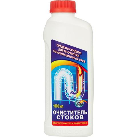 Средство для прочистки труб Очиститель Стоков жидкость 1 л
