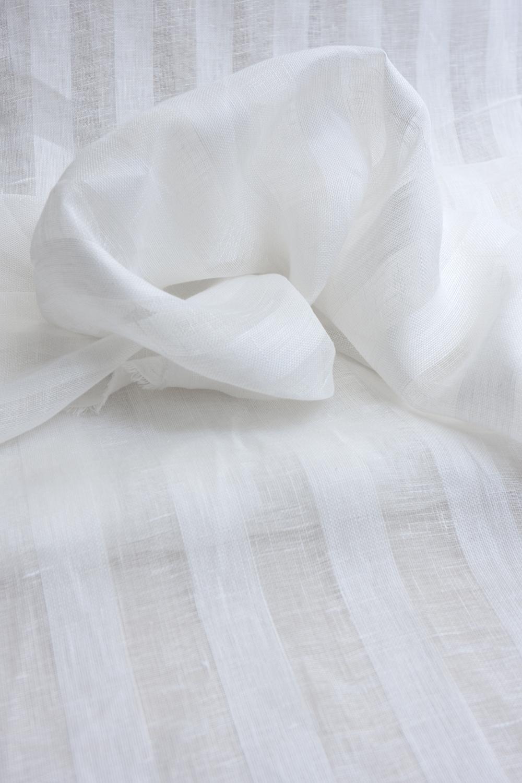 Льняная вуаль широкая, цвет белый