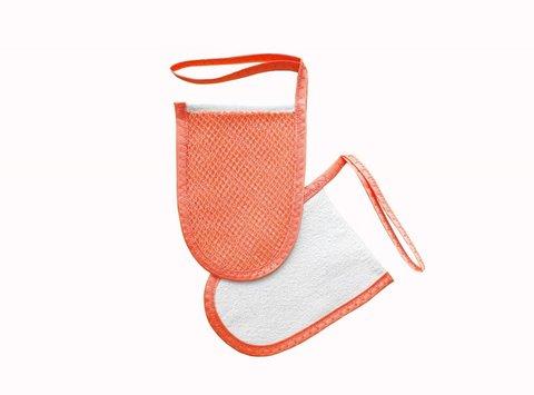 Мини-варежка для лица и декольте Коралл (Шелковица)