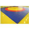 Ковер борцовский трехцветный 12х12м, наполнитель матов НПЭ 120кг/м3, толщина 4см