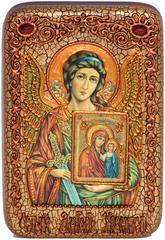 Икона инкрустированная Ангел Хранитель 15х10см на натуральном дереве в подарочной коробке