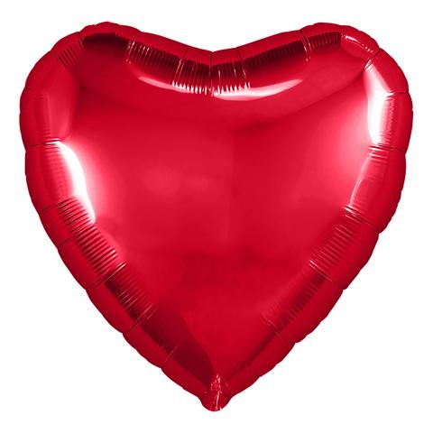 Воздушный шар сердце большое, Красный, 81 см