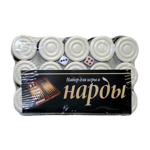 Набор для игры в нарды с кубиками 1кор*10бл*5шт