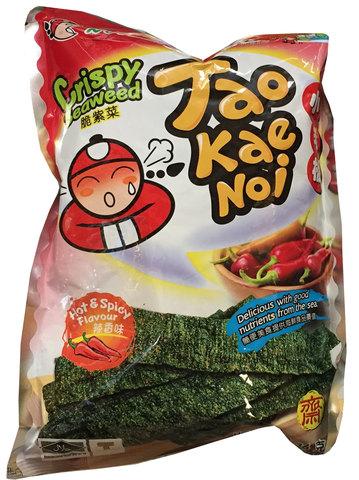 Чипсы из морских водорослей Tao Kae Noi со вкусом красного перца