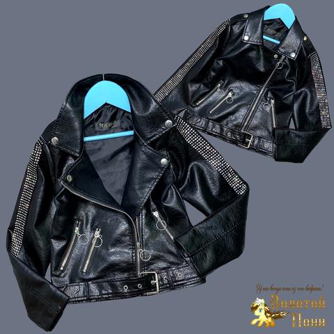 Куртка эко-кожа девочке (5-13) 210524-К74025