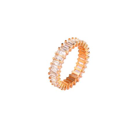 Хрустальное кольцо-дорожка в позолоте