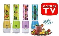 Блендер для приготовления коктейлей и смузи с двумя стаканами — контейнерами Shake'n Take 3 with Two Bottles