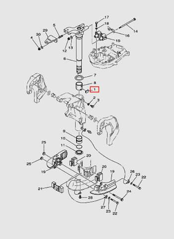 Пластина фрикционная для лодочного мотора T40 Sea-PRO (20-1)