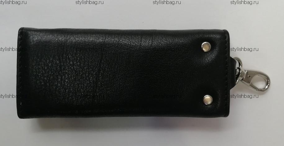 Черная ключница из кожи Karya 8907