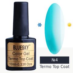 Bluesky, Гель-лак Termo top coat №04, 10 мл