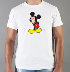Футболка с принтом Микки Маус (Mickey Mouse) белая 0025
