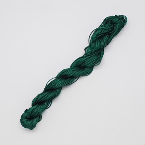 Шнур для плетения (нейлон) 1.0 мм изумрудно-зелёный