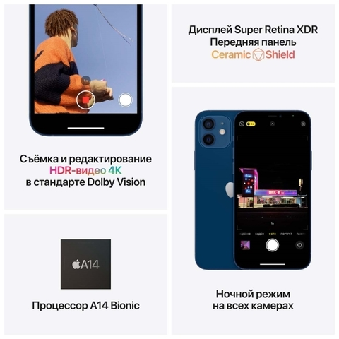 Купить iPhone 12 256Gb синий в Перми