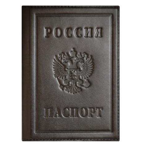 Обложка на паспорт «Герб РФ». Цвет черный