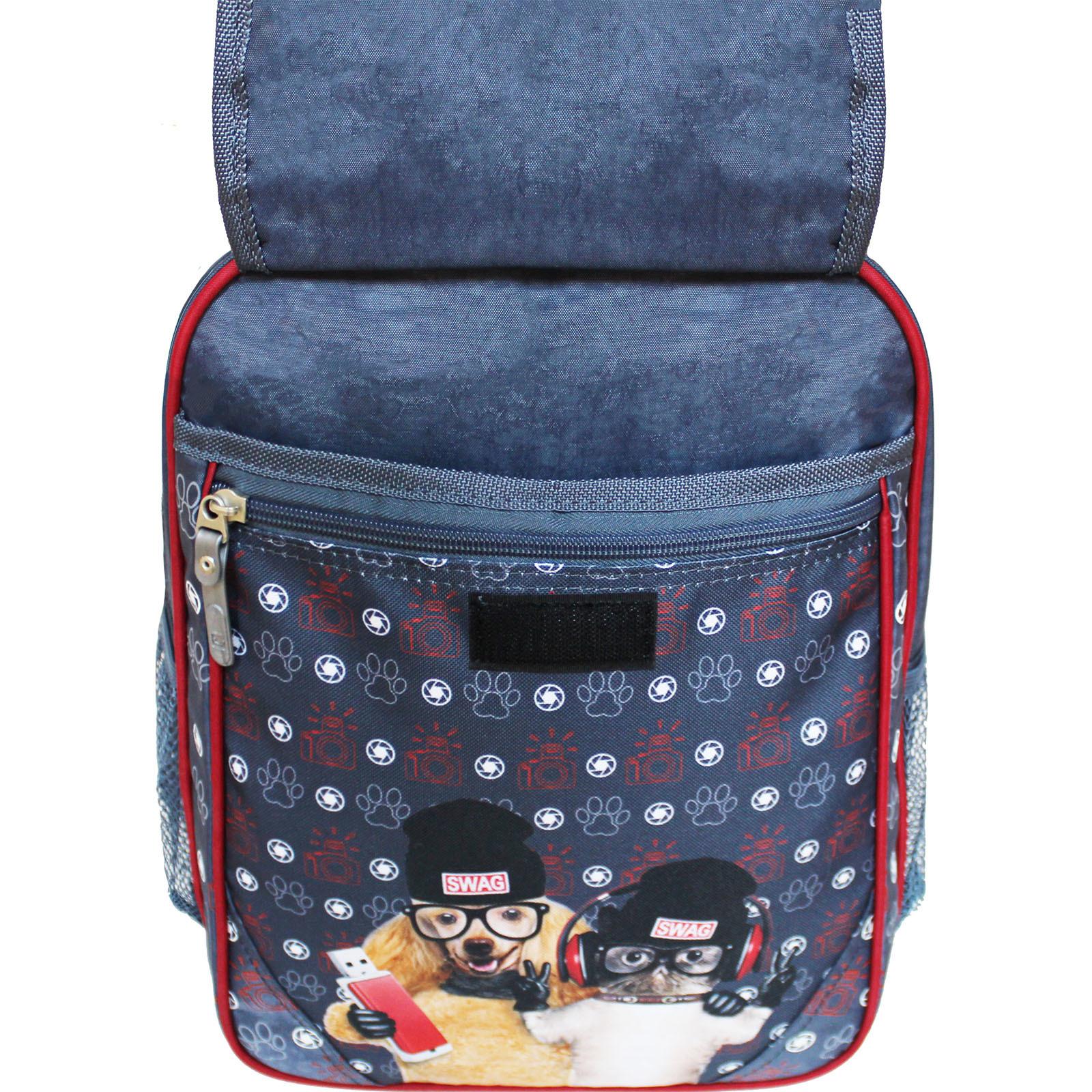 Рюкзак школьный Bagland Отличник 20 л. 321 сірий 188к (0058070)