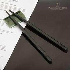 Палочки для суши из тёмно-зеленого нефрита