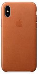 Клип-кейс Apple Leather Case для iPhone X (золотисто-коричневый)