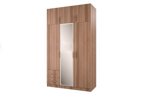 Шкаф 3-х створчатый с ящиками БТС Ясень шимо