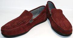 Мокасины из кожи мужские IKOC 1555-3 Red.