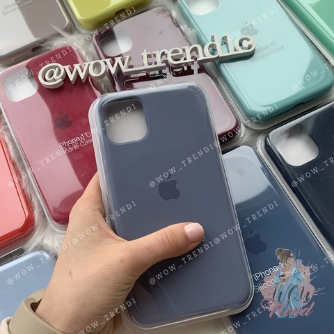 Чехол iPhone 11 Pro Silicone Case Full /lavender gray/