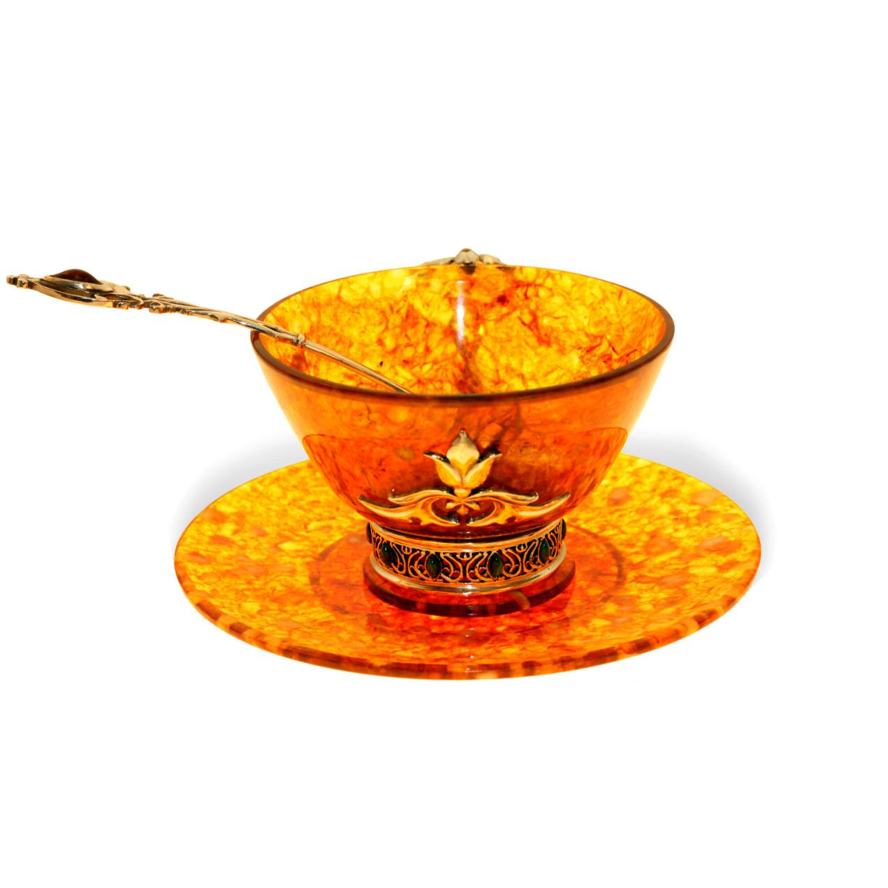 Чайная пара из янтаря «Восточная сказка»
