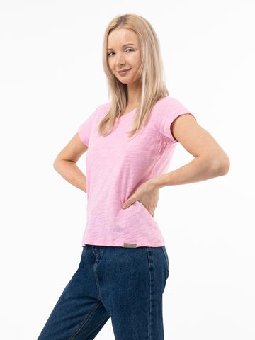 Женская футболка «Великоросс» ярко-розового цвета