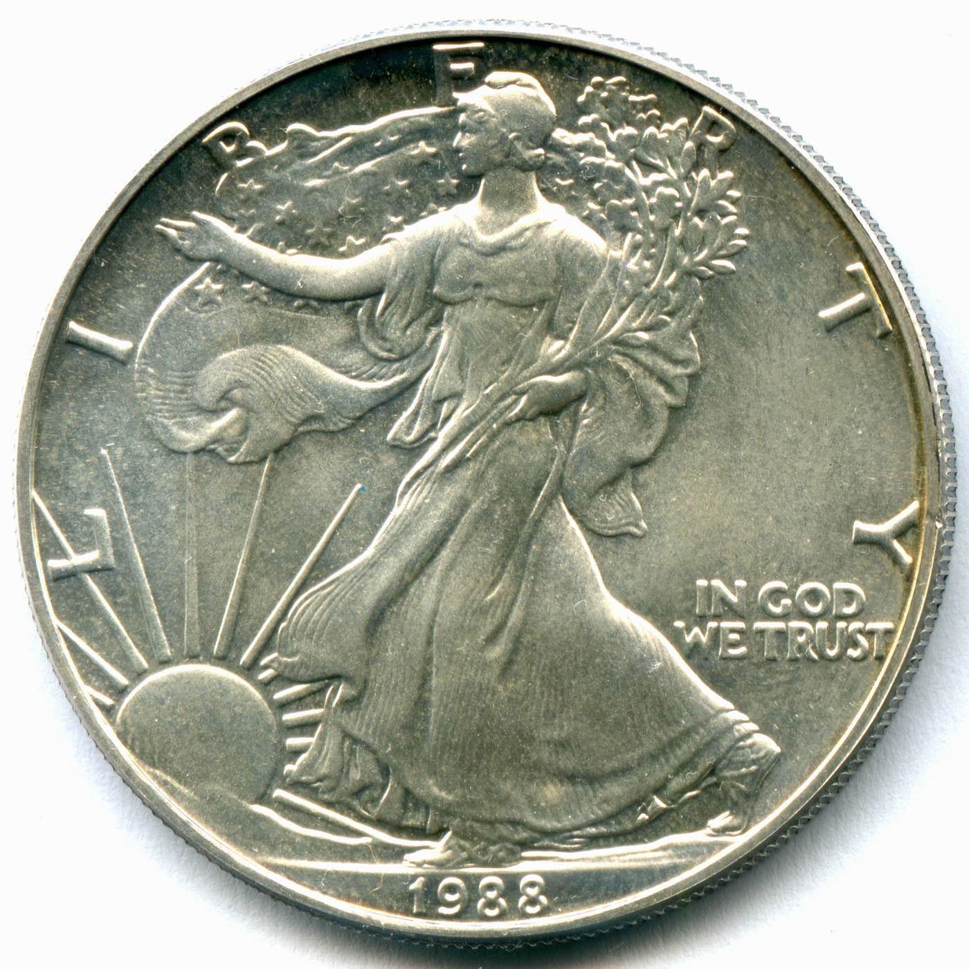 1 доллар США 1988 год AU (Шагающая свобода)