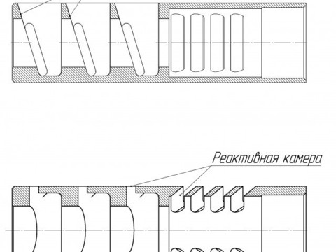 Дульный тормоз компенсатор Ильина ГК-02 v.2 12 калибр