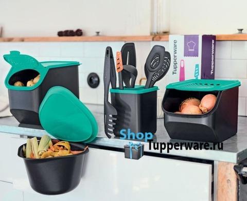 Контейнер Свежесть, Дыхание, Реверси, и подставка для кухонных приборов Tupperware