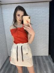 белая юбка с завышенной талией интернет магазин