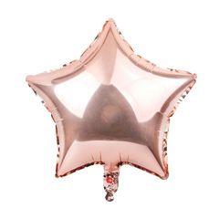 Шар звезда розовое золото