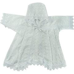 Папитто. Крестильный набор универсальный с рубашкой с капюшоном и пеленкой, белый