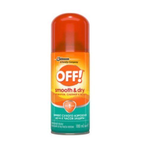 Репеллент OFF! Smooth&Dry от комаров 100 мл аэрозоль