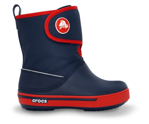 Фото детские сапожки Крокс (Crocs) Kids' Crocband™ II.5 Gust Boot Navy/Red 12905